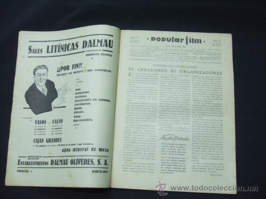 Cine: POPULAR FILM - AÑO VI - NUMERO 277 - 3 DICIEMBRE 1931 - PORTADA, JOSE MOJICA - - Foto 2 - 22953305