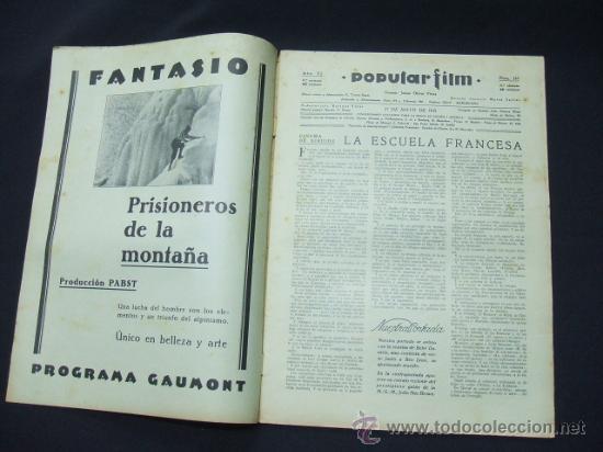 Cine: POPULAR FILM - AÑO VI - NUMERO 249 - 21 MAYO 1931 - PORTADA, BEBE DANIELS Y BEN LYON - - Foto 2 - 22953334