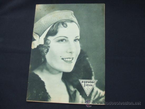 POPULAR FILM - AÑO VI - Nº 262 - 20 AGOSTO 1931 - PORTADA, ROSITA DIAZ - (Cine - Revistas - Popular film)