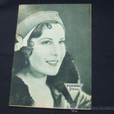 Cine: POPULAR FILM - AÑO VI - Nº 262 - 20 AGOSTO 1931 - PORTADA, ROSITA DIAZ - . Lote 22952956