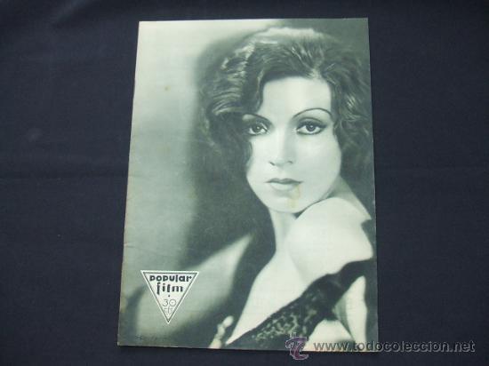 POPULAR FILM - AÑO VI - Nº 259 - 30 JULIO 1931 - PORTADA, CONCHITA MONTENEGRO - (Cine - Revistas - Popular film)