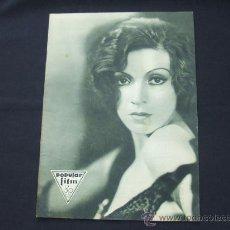 Cine: POPULAR FILM - AÑO VI - Nº 259 - 30 JULIO 1931 - PORTADA, CONCHITA MONTENEGRO - . Lote 22953075