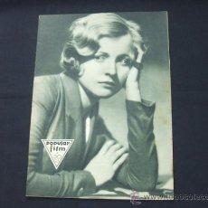 Cine: POPULAR FILM - AÑO VI - Nº 261 - 13 AGOSTO 1931 - PORTADA, LUCILE BROWNE - . Lote 22953108