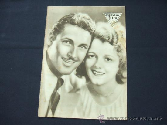 POPULAR FILM - AÑO V - Nº 224 - 13 NOVIEMBRE 1930 - PORTADA, JANET GAYNOR Y CHARLES FARRELL - (Cine - Revistas - Popular film)