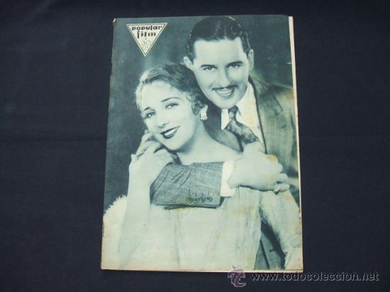 POPULAR FILM - AÑO VI - NUMERO 249 - 21 MAYO 1931 - PORTADA, BEBE DANIELS Y BEN LYON - (Cine - Revistas - Popular film)