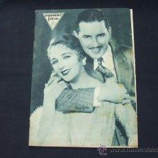 Cine: POPULAR FILM - AÑO VI - NUMERO 249 - 21 MAYO 1931 - PORTADA, BEBE DANIELS Y BEN LYON - . Lote 22953334