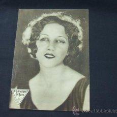 Cine: POPULAR FILM - AÑO V - NUMERO 220 - 16 OCTUBRE 1930 - PORTADA, MARIA FERNANDA LADRON DE GUEVARA. Lote 22953731