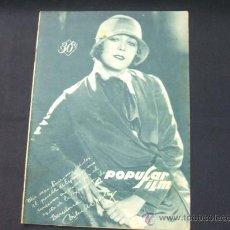 Cine: POPULAR FILM - AÑO IV - NUMERO 172 - 14 NOVIEMBRE 1929 - . Lote 22953774