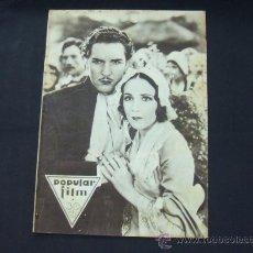 Cine: POPULAR FILM - AÑO V - NUMERO 189 - 13 MARZO 1930 - PORTADA, DOLORES DEL RIO Y RONALD DREW - . Lote 22953918