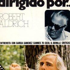 Cine: DIRIGIDO POR... Nº 34 ROBERT ALDRICH. Lote 23000017