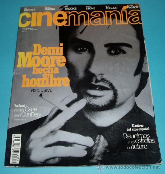 CINEMANIA. Nº 11. 1996. DEMI MOORE. NICOLAS CAGE. SEAN CONNERY (Cine - Revistas - Cinemanía)