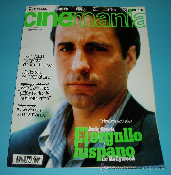CINEMANIA. Nº 10. 1996. ANDY GARCIA. TOM CRUISE. MR. BEAN. VAN DAMME (Cine - Revistas - Cinemanía)