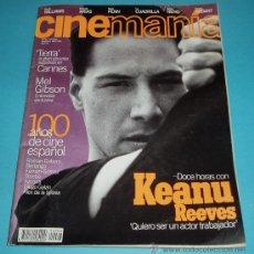 Cine: CINEMANIA. Nº 8. 1996. KEANU REEVES. MEL GIBSON. . Lote 23027626