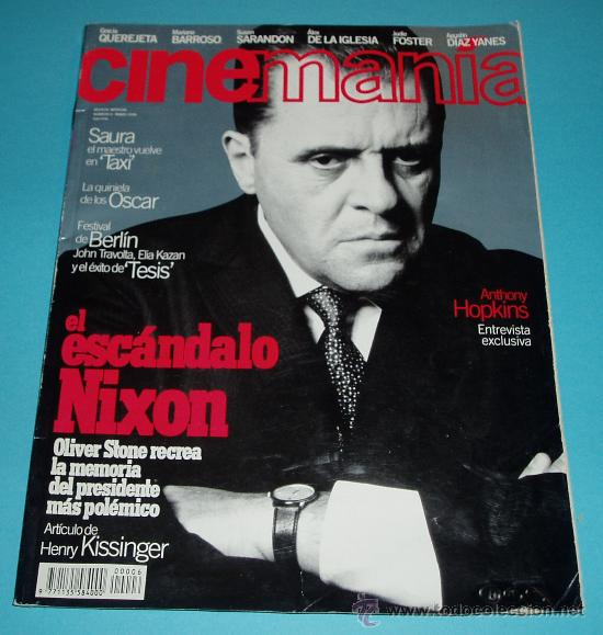CINEMANIA. Nº 6. 1996. ANTHONY HOPKINS. SAURA. OLIVER STONE (Cine - Revistas - Cinemanía)