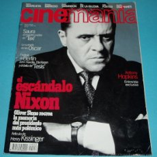 Cine: CINEMANIA. Nº 6. 1996. ANTHONY HOPKINS. SAURA. OLIVER STONE. Lote 23027663