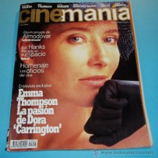 Cine: CINEMANIA. Nº 1. 1995. EMMA THOMPSON. PEDRO ALMODOVAR. TOM HANKS. Lote 26831273