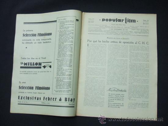 Cine: POPULAR FILM - Nº 273 - 5 NOVIEMBRE 1931 - PORTADA, JANET GAYNOR Y CHARLES FARRELL - Foto 2 - 23173879