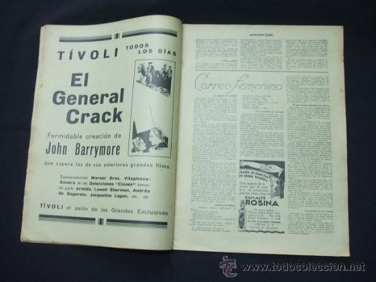 Cine: POPULAR FILM - Nº 222 - 30 OCTUBRE 1930 - PORTADA, NANCY BELFORD - Foto 3 - 23173941