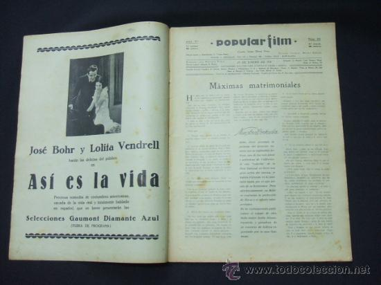 Cine: POPULAR FILM - Nº 233 - 29 ENERO 1931 - PORTADA, BILLIE DOVE - Foto 2 - 23174394