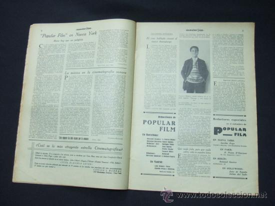 Cine: POPULAR FILM - Nº 199 - 22 MAYO 1930 - PORTADA, CONRAD NAGEL - Foto 4 - 23174471