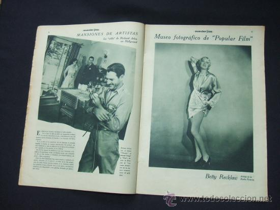 Cine: POPULAR FILM - Nº 199 - 22 MAYO 1930 - PORTADA, CONRAD NAGEL - Foto 5 - 23174471
