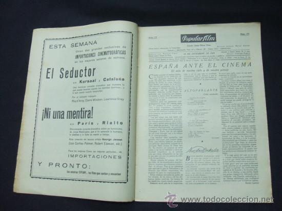 Cine: POPULAR FILM - Nº 178 - 26 DICIEMBRE 1929 - PORTADA, BUSTER KEATON Y DOROTHY SEBASTIAN - Foto 3 - 23174526