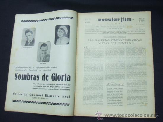 Cine: POPULAR FILM - Nº 232 - 22 ENERO 1931 - PORTADA, CONCHITA MONTENEGRO - Foto 2 - 23174663