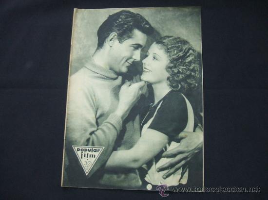 POPULAR FILM - Nº 273 - 5 NOVIEMBRE 1931 - PORTADA, JANET GAYNOR Y CHARLES FARRELL (Cine - Revistas - Popular film)