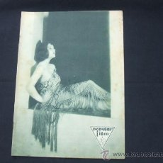 Cine: POPULAR FILM - Nº 201 - 5 JUNIO 1930 - PORTADA, AUDREY FERRIS. Lote 23173928