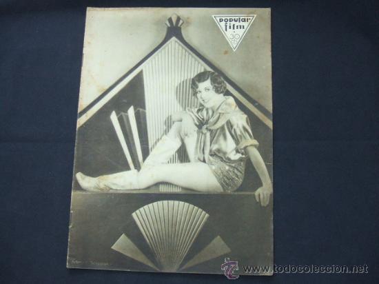 POPULAR FILM - Nº 222 - 30 OCTUBRE 1930 - PORTADA, NANCY BELFORD (Cine - Revistas - Popular film)