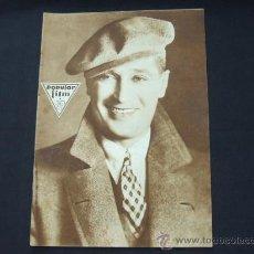 Cine: POPULAR FILM - Nº 195 - 24 ABRIL 1930 - PORTADA, MAURICE CHEVALIER. Lote 23174083