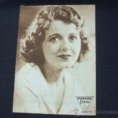 Cine: POPULAR FILM - Nº 196 - 1 MAYO 1930 - PORTADA, JANET GAYNOR. Lote 23174214