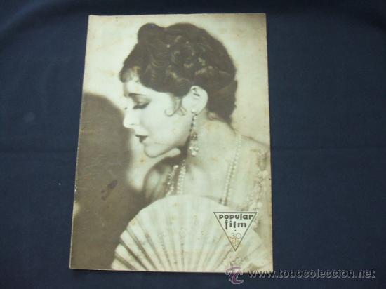 POPULAR FILM - Nº 233 - 29 ENERO 1931 - PORTADA, BILLIE DOVE (Cine - Revistas - Popular film)