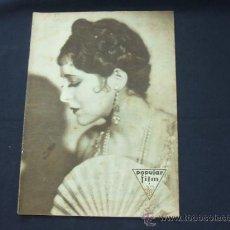 Cine: POPULAR FILM - Nº 233 - 29 ENERO 1931 - PORTADA, BILLIE DOVE. Lote 23174394