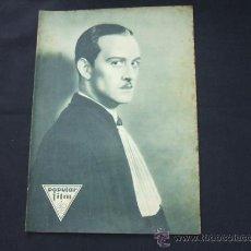 Cine: POPULAR FILM - Nº 199 - 22 MAYO 1930 - PORTADA, CONRAD NAGEL. Lote 23174471