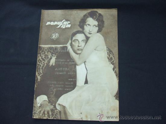 POPULAR FILM - Nº 178 - 26 DICIEMBRE 1929 - PORTADA, BUSTER KEATON Y DOROTHY SEBASTIAN (Cine - Revistas - Popular film)