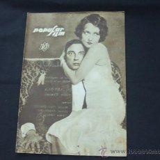 Cine: POPULAR FILM - Nº 178 - 26 DICIEMBRE 1929 - PORTADA, BUSTER KEATON Y DOROTHY SEBASTIAN. Lote 23174526