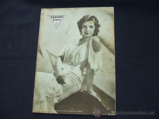 POPULAR FILM - Nº 232 - 22 ENERO 1931 - PORTADA, CONCHITA MONTENEGRO (Cine - Revistas - Popular film)