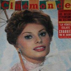 Cine: SOFIA LOREN REVISTA CINEMONDE 1960 SOPHIA LOREN. Lote 26717562