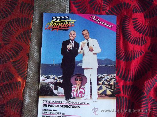 CINE-CLAQUETA-AGOSTO 1989-32 PAGINAS-STEVE MARTIN-MICHAEL CAINE (Cine - Revistas - Claqueta)
