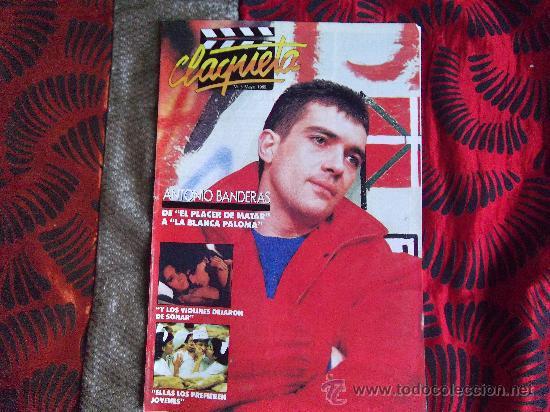 CINE-CLAQUETA-Nº3-MAYO 1989-24 PAGINAS-ANTONIO BANDERAS (Cine - Revistas - Claqueta)