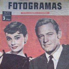 Cine: REVISTA FOTOGRAMAS Nº 347 - AUDREY HEPBURN WILLIAM HOLDEN SABRINA. Lote 23786667