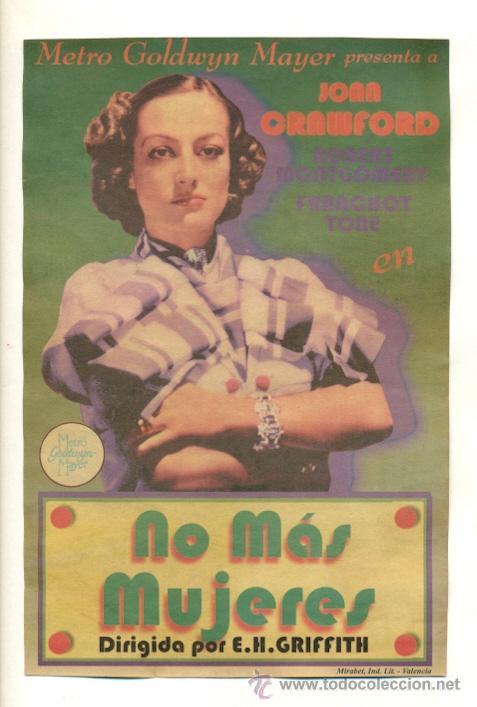 NO MAS MUJERES - PROGRAMA DE 21'50X14'50 (Cine - Reproducciones de carteles, folletos...)