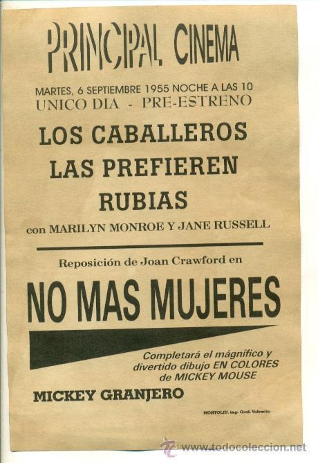 Cine: NO MAS MUJERES - PROGRAMA DE 2150X1450 - Foto 2 - 26020129
