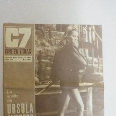 Cine: REVISTA C7 CINE EN 7 DIAS - LA VUELTA DE URSULA ANDRESS- NUM 346. Lote 24049288