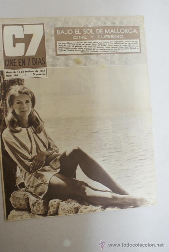 REVISTA C7, CINE EN SIETE DIAS- BAJO EL SOL DE MALLORCA CINE Y TURISMO- NUM:344 (Cine - Revistas - Cine en 7 dias)