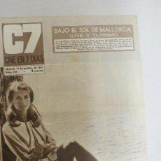 Cine: REVISTA C7, CINE EN SIETE DIAS- BAJO EL SOL DE MALLORCA CINE Y TURISMO- NUM:344. Lote 24049473