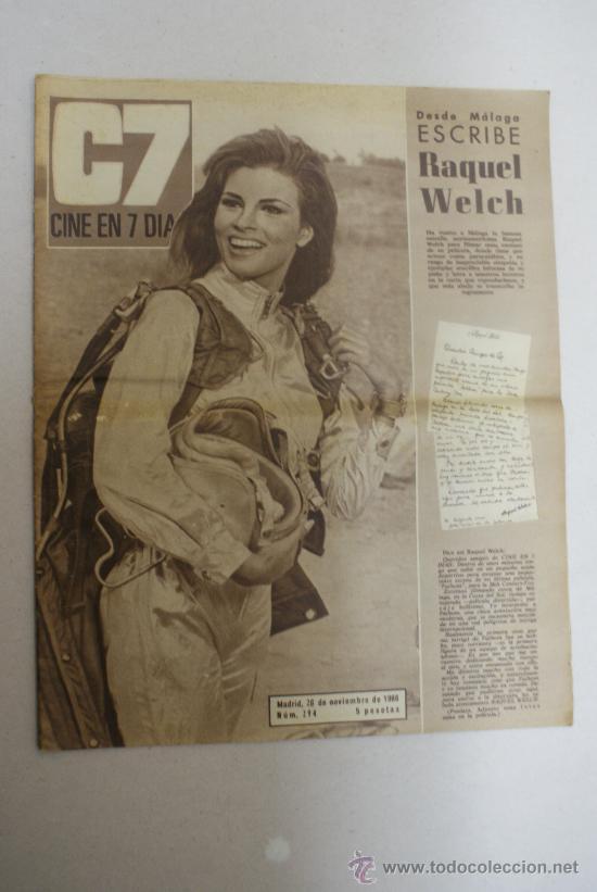 REVISTA C7 CINE EN 7 DIAS- DESDE MALAGA ESCRIBE RAQUEL WELCH- NUM:294 (Cine - Revistas - Cine en 7 dias)