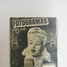 Cine: REVISTA FOTOGRAMAS- BETTY GRABLE- FELIZ 1949 . Lote 24049767
