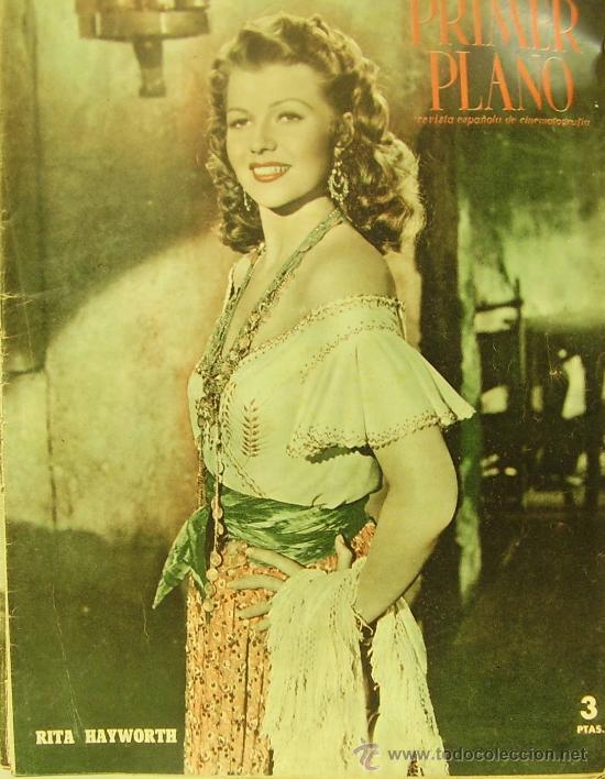 REVISTA PRIMER PLANO - RITA HAYWORTH, GLENN FORD, LOLA FLORES, RODOLFO VALENTINO 1951 Nº542 (Cine - Revistas - Primer plano)